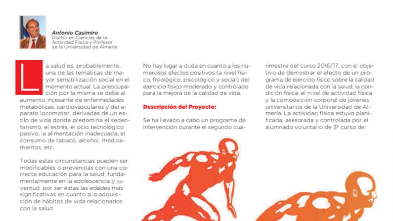 Colaboración en la revista Deporcam sobre Ual-Activa.